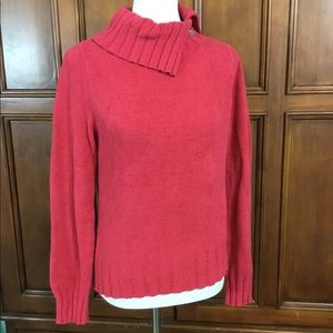 Caslon Womens Sweater Button Cowl Neck Super Soft